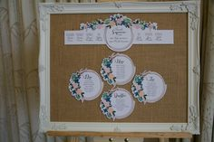 Vintage, Rustic Table Plan part of the 'BLOOMS' collection