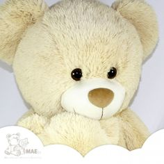 OSO de peluche Lazo BEIGE - 90cm - Osos de peluche