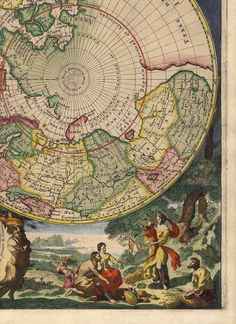Antique World Map.