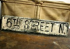 Great wall decor a chippy paint vintage street sign