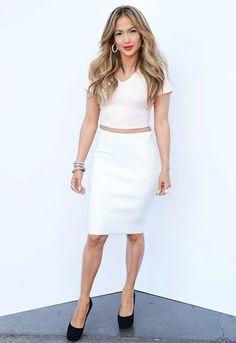 Jennifer Lopez in an ASOS crop top on American Idol