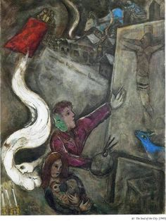The soul of the city, 1945, Marc Chagall Medium: oil on canvas