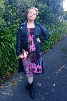 I'm either full leather, or full floral. Curvy Fashion, Plus Size Fashion, My Size, Style Me, Curves, Ootd, Celebrities, Floral, Plus Size Clothing