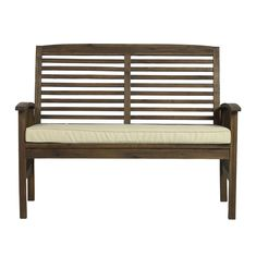 WE Furniture Solid Acacia Wood Patio Chat Set *** Continue to the product at the image link. (This is an affiliate link) Patio Furniture Makeover, Outdoor Furniture, Outdoor Decor, Patio Loveseat, Wood Patio, Acacia Wood, Entryway Bench, Outdoor Gardens, Dark Brown