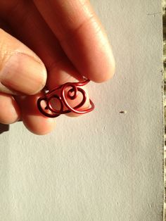 Red Ring size 7 Etsy Jewelry Lilyb444 Heart Ring by Lilyb444, $2.50