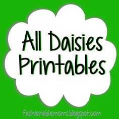 Fashionable Moms: Daisies Printables amazing site with free printables. Wish I had this in the beginning.