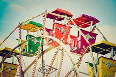 Rainbow Cars Ferris Wheel Fine Art Print or Canvas Wrap / $110.00-11 X 14 /// $140.00-16 X 20 /// $155.00-16 X 24 /// $180.00-20 X 24 /// $210.00-20 X 30 /// $230.00-24 X 30 /// $245.00-24 X 36