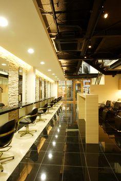 Beauty salon interior design ideas | + hair + space + decor + designs + Tokyo + Japan | Follow us on https://www.facebook.com/TracksGroup   <<<【YUME・YUI セットエリア】上質な品の良いデザイン。 美容室 内装