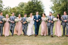 Bridal Party Photos, Veronica Young Photography. Wedding color palette.