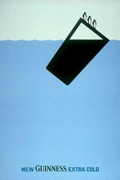 """Guinness Advertising illustration: AMV/BBDO """"Guinness Extra Cold/Iceberg"""" (2000)"""