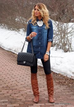 Denim & Pearls