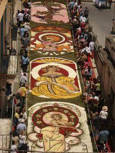 Italy, flower carpet
