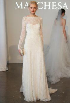 The OAK: #BridalFashionWeek2014: Modest Wedding Gowns from MARCHESA!