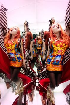 Multiplied Mirror Image Editorials - The Clone Me Pretty Fashion Story Shows Kaleidoscopic Imagery (GALLERY)