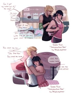 This has to be an obsession at this point lol Scenes from the fanfic Serendipitous Fate by SKayLanphear Miraculous Ladybug Kiss, Los Miraculous, Miraculous Ladybug Fanfiction, Ladybug E Catnoir, Comics Ladybug, Ladybug Cakes, Lady Bug, Adrien X Marinette, Bugaboo
