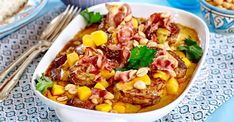 Flygande fläskfilé med mango – recept | Allas Recept 300 Calorie Lunches, Fusion Food, Mango Recept, 300 Calories, Chana Masala, Chili, Pork, Food And Drink, Meat