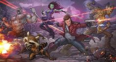 Guardians of the Galaxy Art Work