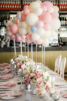 30 Romantic Wedding Balloon Decorations Ideas ❤ wedding balloon decorations centerpiece high with white pink and blue beads wedding photographer sydney via instagram ❤ See more: http://www.weddingforward.com/wedding-balloon-decorations/ #wedding #bride #weddingdecor #weddingdecorations #weddingballoondecorations