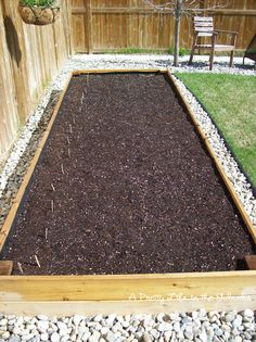 Really like the stones around the raised bed.