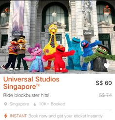 USS Singapore Ticket Promo Save OFF Klook Universal Studios Singapore Ticket using Klook Promo Code. Universal Studios Singapore, Attraction Tickets, Studio S, Coding, Fictional Characters, Fantasy Characters, Programming
