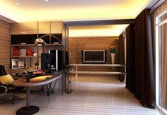 作品(68)新大樓設計 Home Office, Decor, Furniture, Table, Home, Conference Room Table, Fireplace, Home Decor, Room