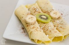 crepes with nutella, banana and kiwi