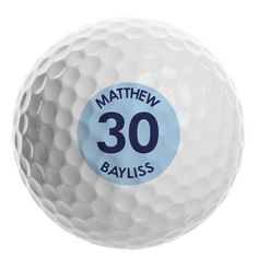Personalised Golf Ball - Big Age Gifts For Sports Fans, Golf Ball, Personalized Gifts, Great Gifts, 3 Characters, Age, Middle, Number, Shop