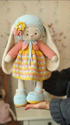 stitchwork Crochet Pattern Outfit Lea garments for Bunny or Lamb toys / Crocheted Amigurumi Animals Amigurumi Animals Bunny Crochet Crocheted garments lamb LEA outfit pattern stitchwork Strickohrwärmer Muster frei toys Knitting Dolls Free Patterns, Crochet Animal Patterns, Crochet Patterns Amigurumi, Amigurumi Doll, Crochet Animals, Crochet Bunny Pattern, Cute Crochet, Crochet Baby, Crochet Beanie