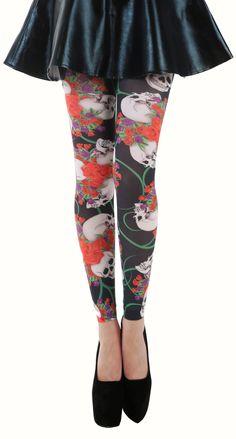 2d48e774fd5 Scarlett Printed Footless Tights (Black Red) - Pamela Mann Footless  Sandals