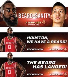 size 40 b80ef 0439d Beardsanity Billboards To Land In Houston. Houston Rockets