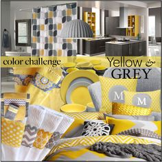 """Yellow & Grey Combo 3"" by melindairenes on Polyvore"
