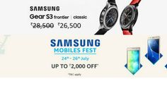 Samsung in partnership with Amazon India has started Samsung Mobiles Fest from 24th July till 26th July, the sale contains up-to ₹2,000 off on a range of smartphones and also on the Samsung Gear S3, which is now available for ₹26,5000. The fest include deals like, Samsung On 7 Pro is available for ₹8,490 while the On 5 Pro for ₹7,190. Samsung mid ranger C7 pro is available at ₹25,990, which is a great deal. Samsung J5 is available at ₹9,590 while the On 8 for ₹11,490. There are a...