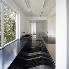 Private Flat in Highgate — Casper Mueller Kneer Ltd Architects — London & Berlin Black Kitchen Taps, Black Bathroom Taps, Black Kitchens, Freestanding Taps, Scandinavian Design, Basin, Kitchen Design, Stairs, London