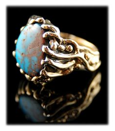 It doesn't get any better for those men who are looking for a real mens' ring! Take a look at this massive #Bisbee #Turquoise #Ring at $6,600 by www.gemstone-silver-jewelry.com