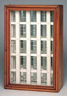 Joseph Cornell Joseph Cornell Untitled (Windows) ca. 1940s mixed media box construction 17 1/8 x 11 3/8 x 4 3/8 in.