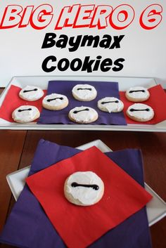 Perfect for snacking on while watching the movie, these Baymax Cookies are an easy and delicious way to encourage your little one's love of the movie and the loveable character.