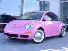 VW Beetle Pink - Girly Cars for Female Drivers! Love Pink Cars ♥ It's the dream car for every girl ALL THINGS PINK!