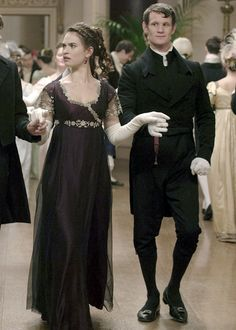 """lilyjamessource: """" """"Lily James as Elizabeth Bennet and Matt Smith as Mr. Collins in Pride and Prejudice and Zombies. Regency Gown, Regency Era, Pride And Prejudice And Zombies, Elizabeth Bennet, Lily James, Matt Smith, Movie Costumes, Formal Prom, Jane Austen"""