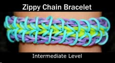 Rainbow Loom Patterns: Zippy Chain Rainbow Loom Pattern (youtube tutorial) See more: http://rainbowloompatterns.blogspot.com