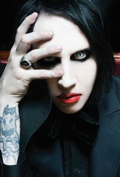 Marilyn Manson, who is as clever as he is gorgeous