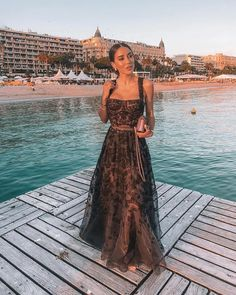Total look for Gala Dinner in Cannes! Sometimes dreams really do come true so keep dreaming Milan Men's Fashion Week, Mens Fashion Week, Evening Dresses, Prom Dresses, Formal Dresses, Ball Dresses, Long Gown Elegant, Classy Gowns, Glam And Glitter