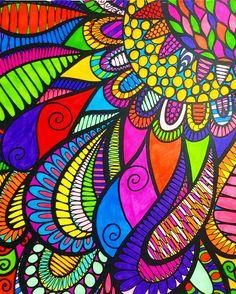 ColorIt Wild Doodles Colorist: Marla Theodoro #adultcoloring #coloringforadults #adultcoloringpages #doodle