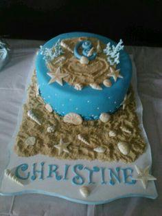 Ocean Cake Gorgeous Cakes, Amazing Cakes, Ocean Cupcakes, Dolphin Cakes, Airbrush Cake, Birthday Ideas, Birthday Cake, Sea Cakes, Bridal Shower