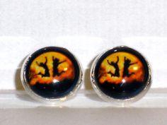 Ohrstecker Mond Ohrringe Damen Ohrschmuck Modeschmuck Metalllegierung Glas