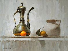 Demo of Walter's Turkish Kettle by David Cheifetz Oil ~ 9 x 12