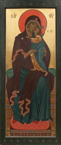 The Virgin of Tenderness with the Divine Child. Byzantine Icons, Byzantine Art, Religious Images, Religious Art, Sign Of The Cross, Mama Mary, Mary And Jesus, Holy Mary, Madonna And Child