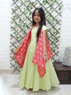 HappyShappy - India's Own Social Commerce Platform Dresses Kids Girl, Little Girl Dresses, Cute Dresses, Kids Outfits, Baby Dresses, Wedding Dresses, Kids Indian Wear, Kids Ethnic Wear, Kids Lehenga Choli