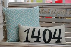 Address Pillow for porch swing
