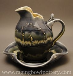Wheelthrown and altered porcelain sauceboat, Raging Bowl Pottery