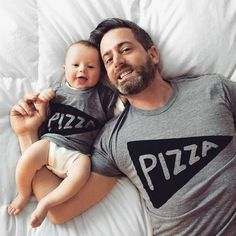 Matching Father Son Shirts, Father Daughter Pizza T shirts / dad and baby matching shirts, family set of cool t-shirts, made in usa, kids Father Daughter Shirts, Father Son Matching Shirts, Dad To Be Shirts, Baby Shirts, Father And Son, Dad Daughter, Happy Father, Dad Baby, Baby Boy
